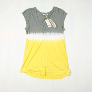 Soft Joie Scoop Neck Ombre Striped Tee Shirt